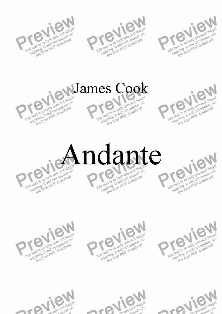 page one of Andante