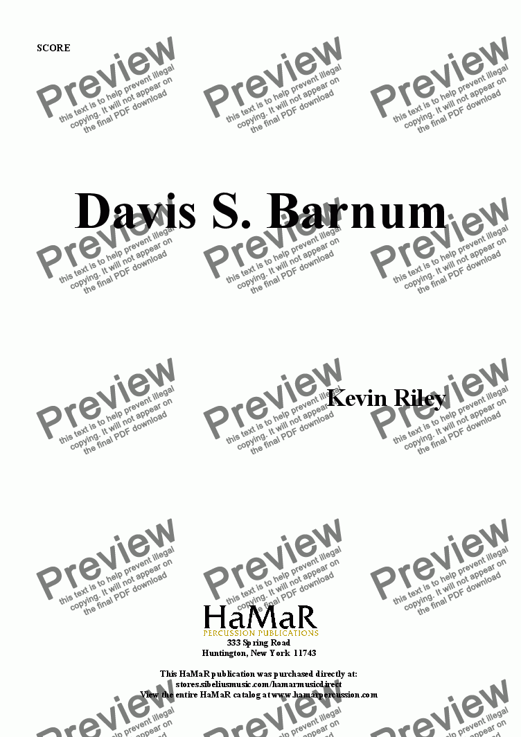 page one of Davis S. Barnum