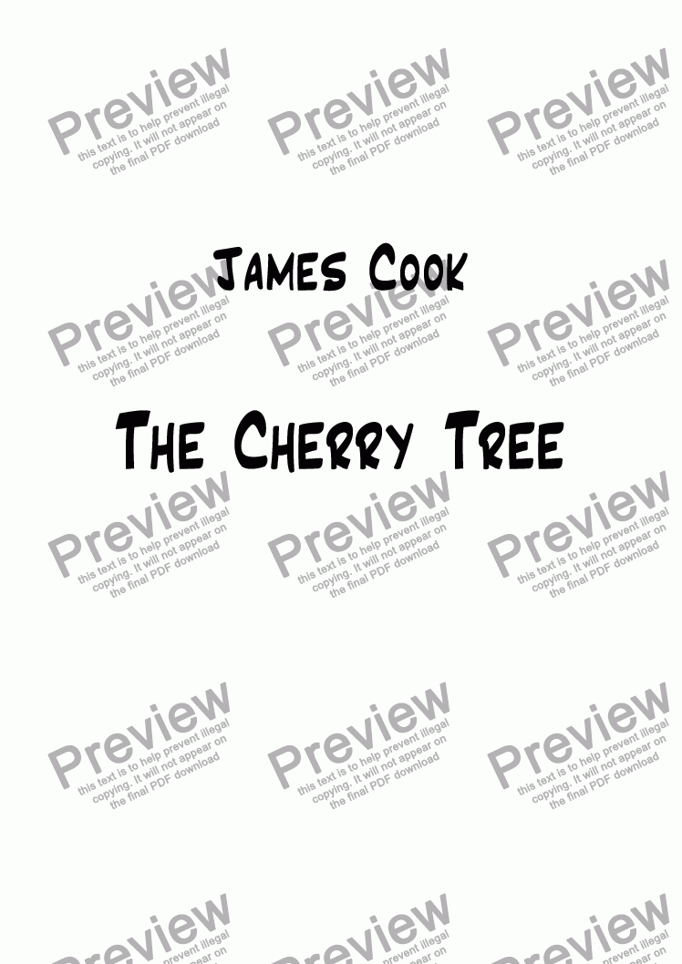 page one of The Cherry TreeASALTTEXT
