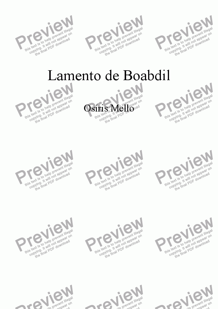 page one of LAMENTO DE BOABDIL