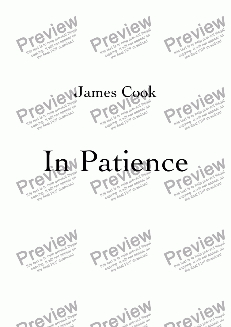 page one of In Patience
