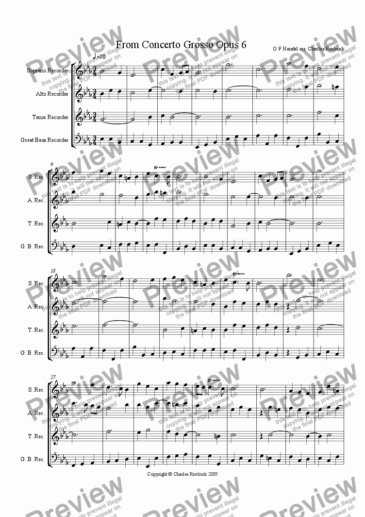 page one of From Concerto GrossoASALTTEXT