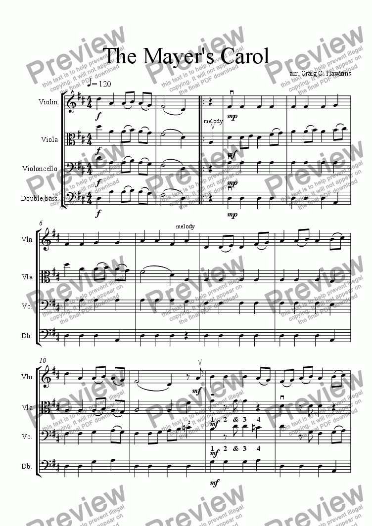 page one of The Mayer's Carol