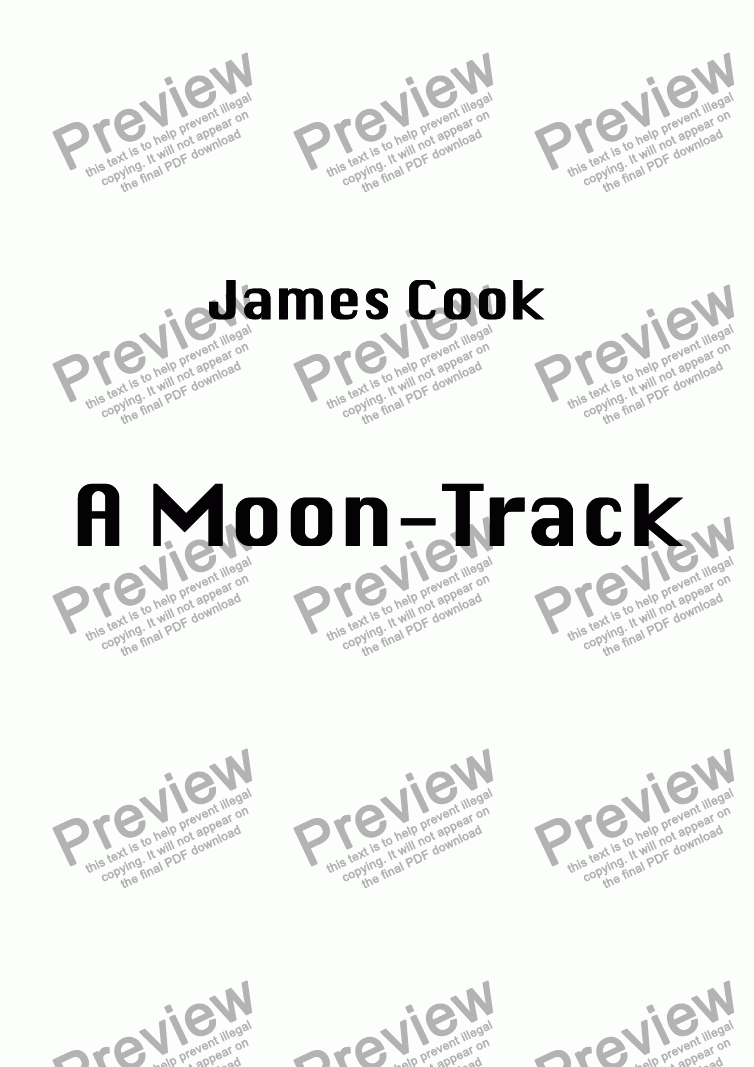 page one of A Moon-Track