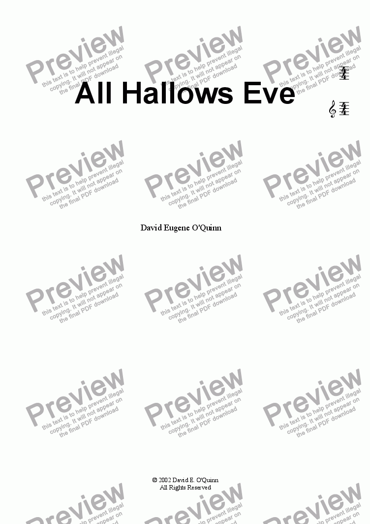 page one of All Hallows Eve