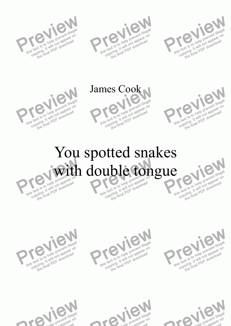 page one of You spotted snakes with double tongue