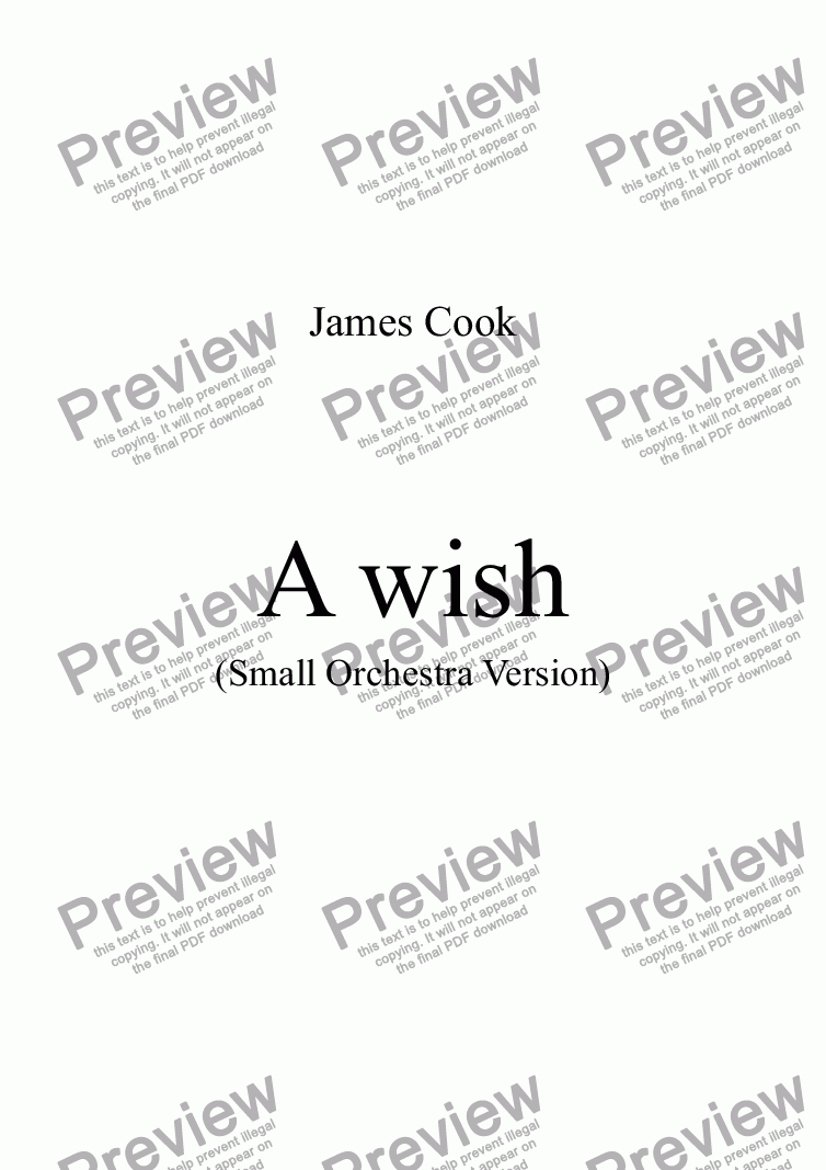 page one of A wish
