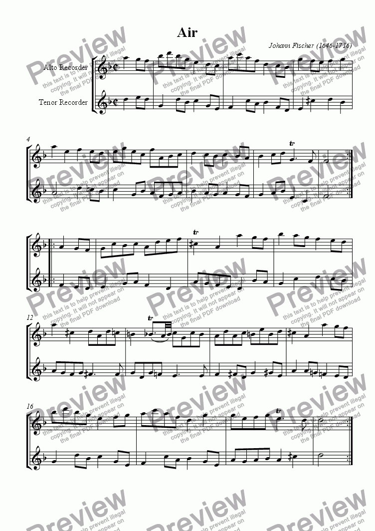 page one of Air for AT-Recorders or 2 Flutes