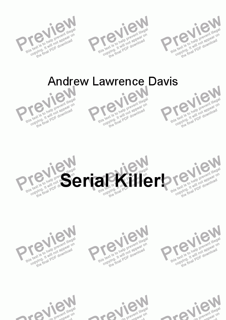 page one of Serial Killer!