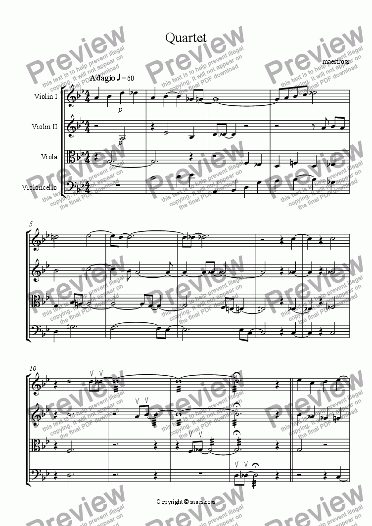 page one of Quartet