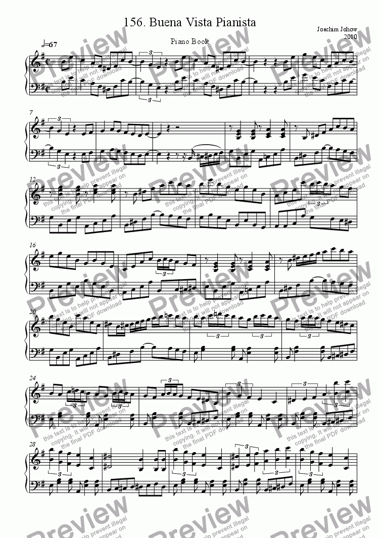 page one of Piano Book 156 (Buena vista pianista)ASALTTEXT