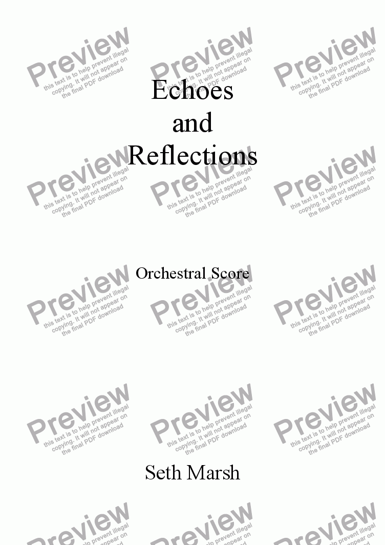 page one of Echoes and Reflections