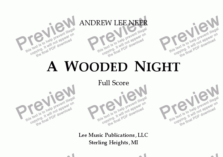 page one of A Wooded Night