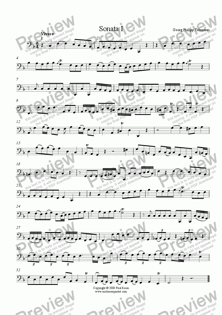 page one of Six Canonic Duets