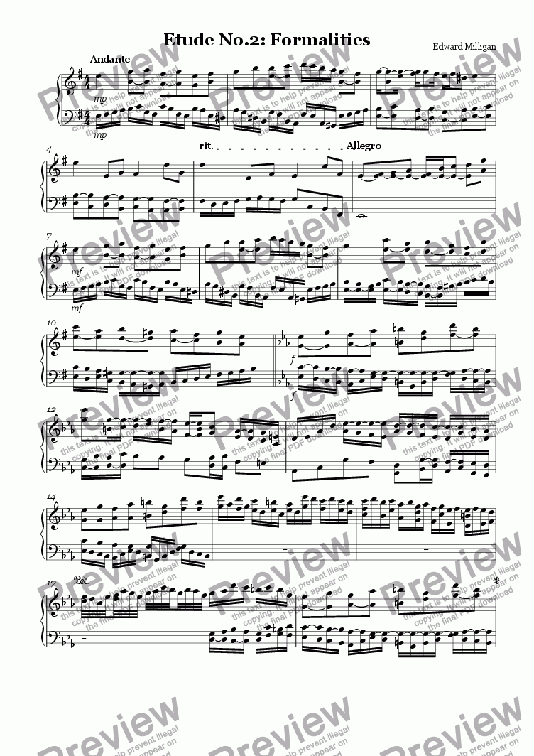 page one of Etude no.2