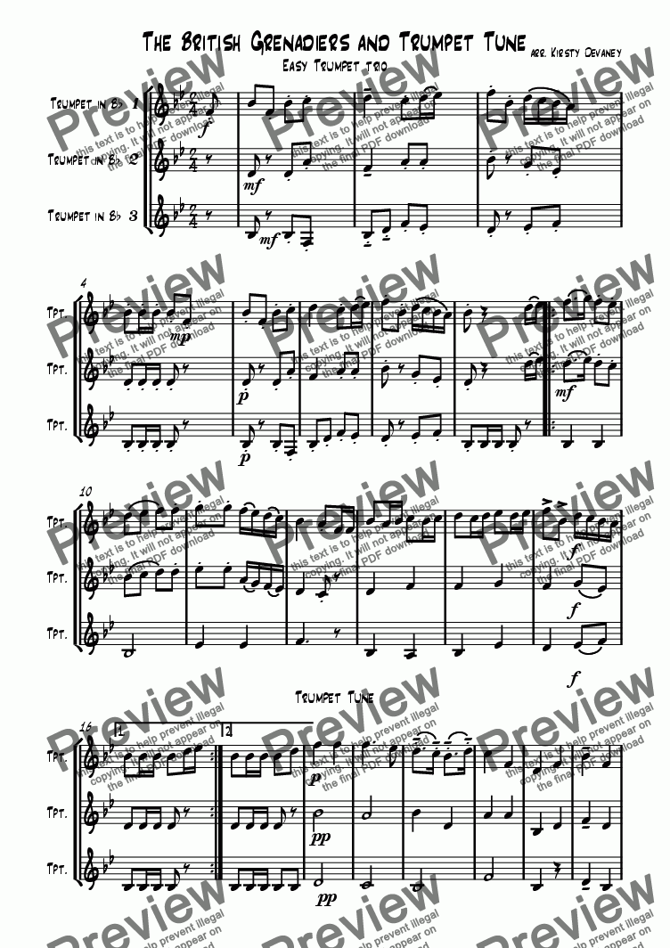 page one of Trumpet Tune