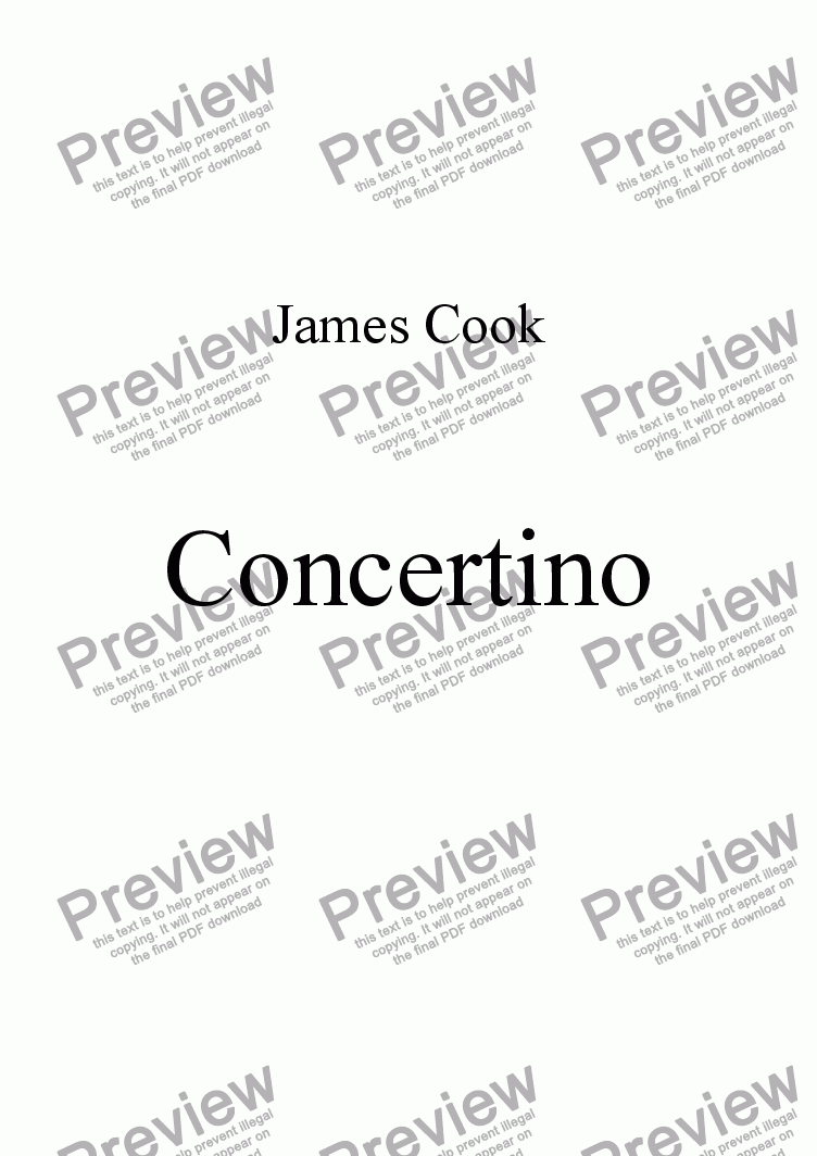 page one of Concertino