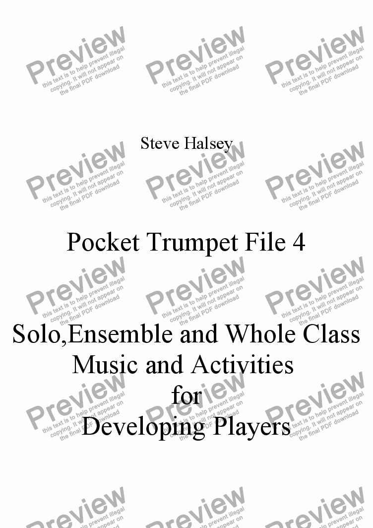 page one of Pocket Trumpet File 4