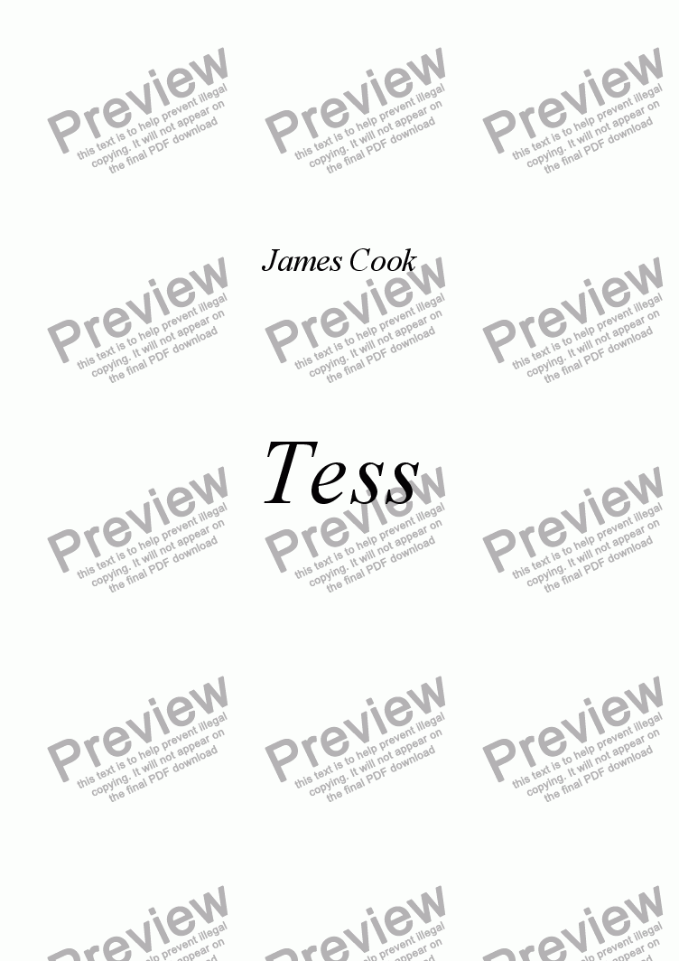 page one of Tess