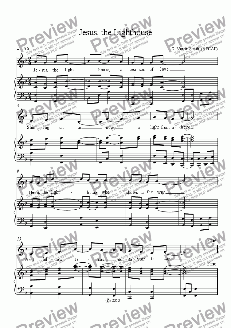 The Lighthouse Sheet Music Free Ibovnathandedecker