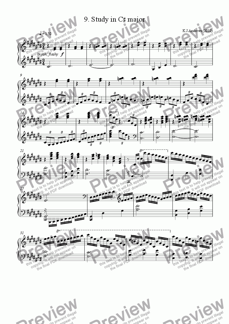 page one of 12 Studies in Remote Keys: 9.C-sharp major