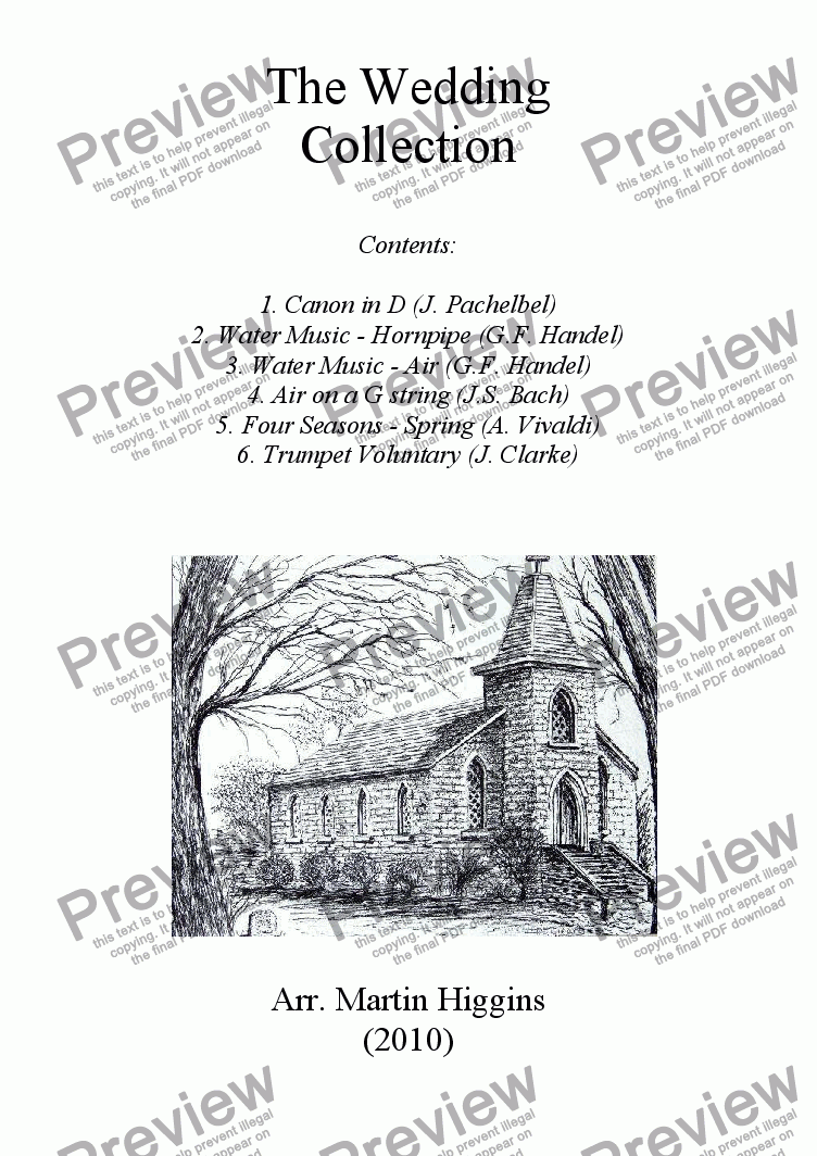 page one of The Wedding Collection (Clarinet Quartet) (2010)