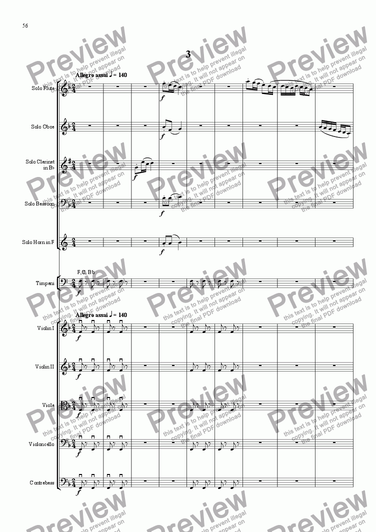 page one of Sinfonietta Concertante - Movt 3
