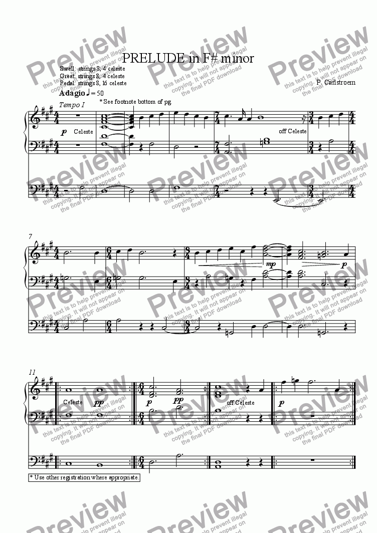 page one of Flag this messagePrelude in F # minor