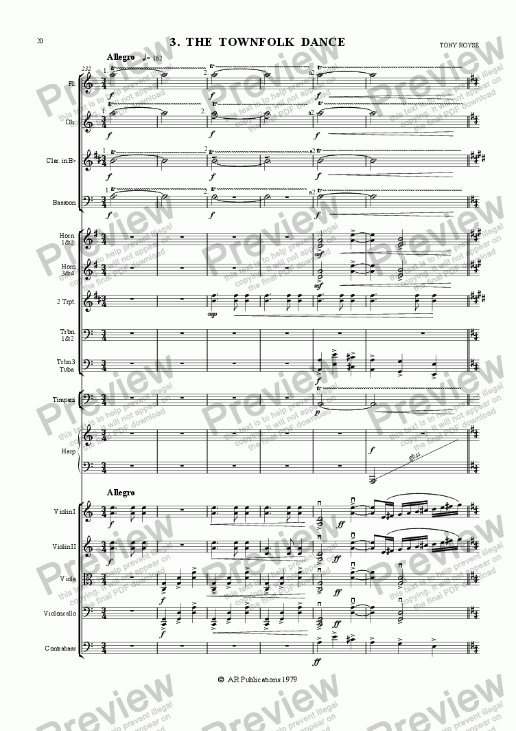 page one of Ballet: The Emperor's New Clothes (Act 1 #2-4) Townfolk & the Emperor