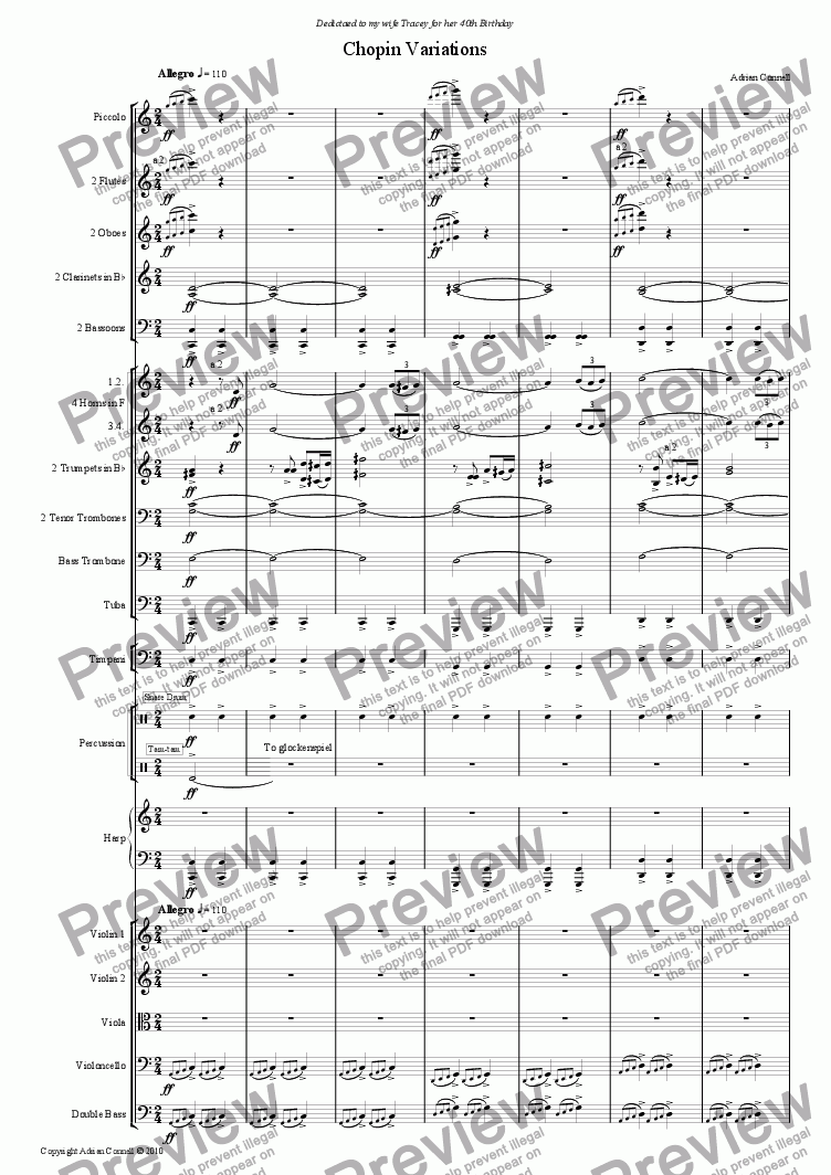 page one of Chopin VariationsASALTTEXT