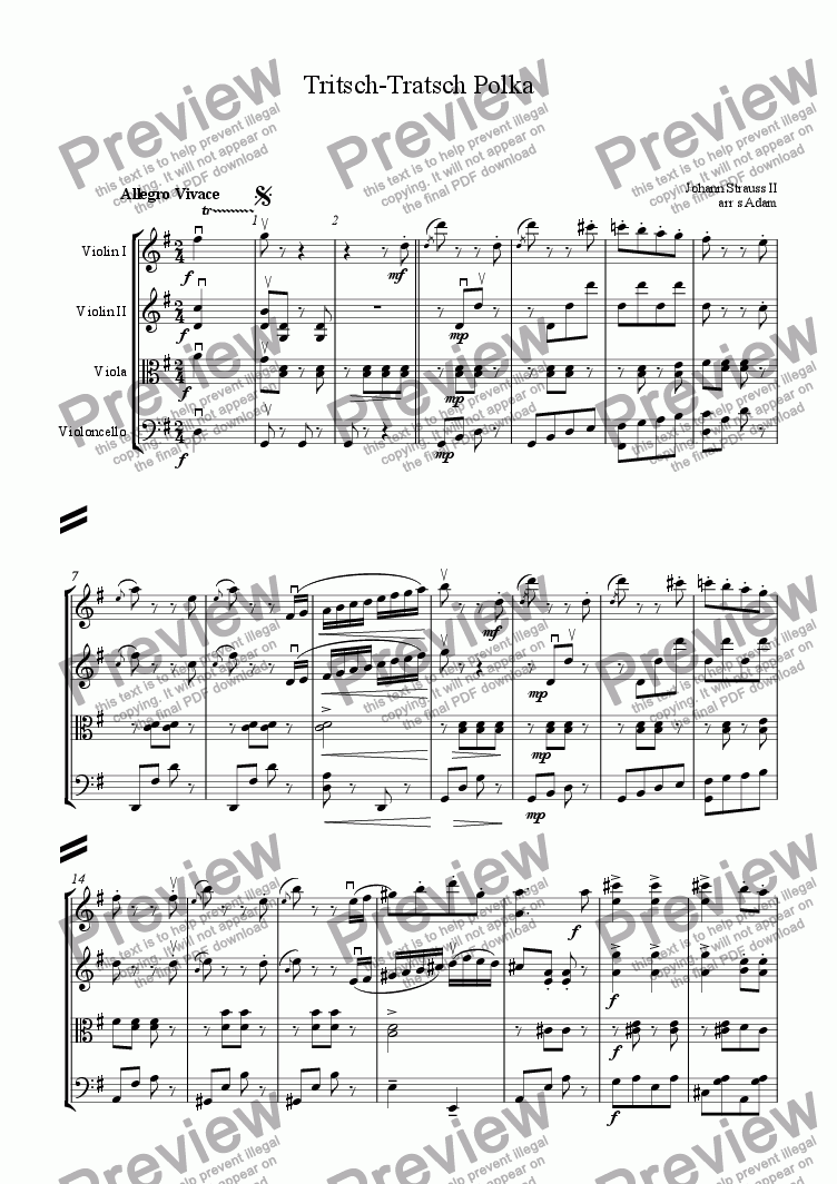 page one of Tritsch-Tratsch Polka