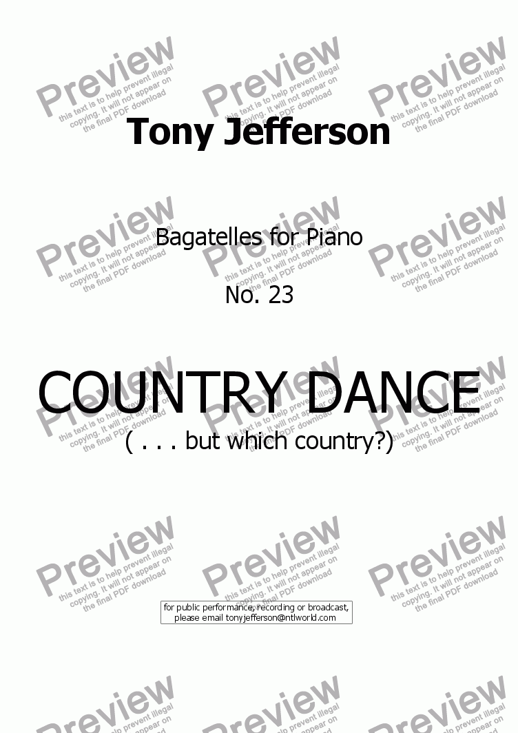 page one of Country dance ( . . . but which country?)