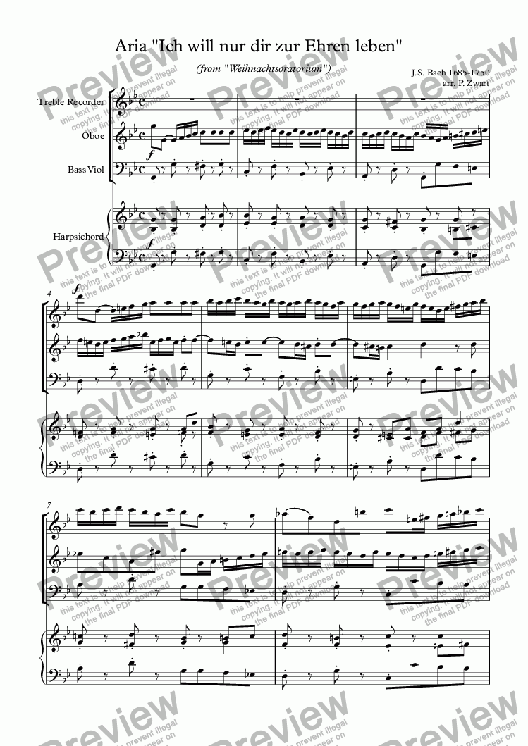 page one of Ich will den Namen (Bach)