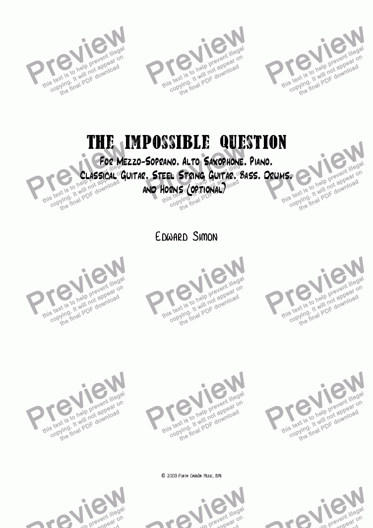 page one of The Impossible Question
