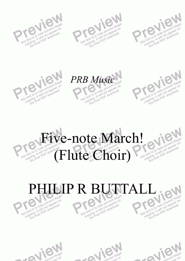 page one of Five-note March! (Flute Choir)