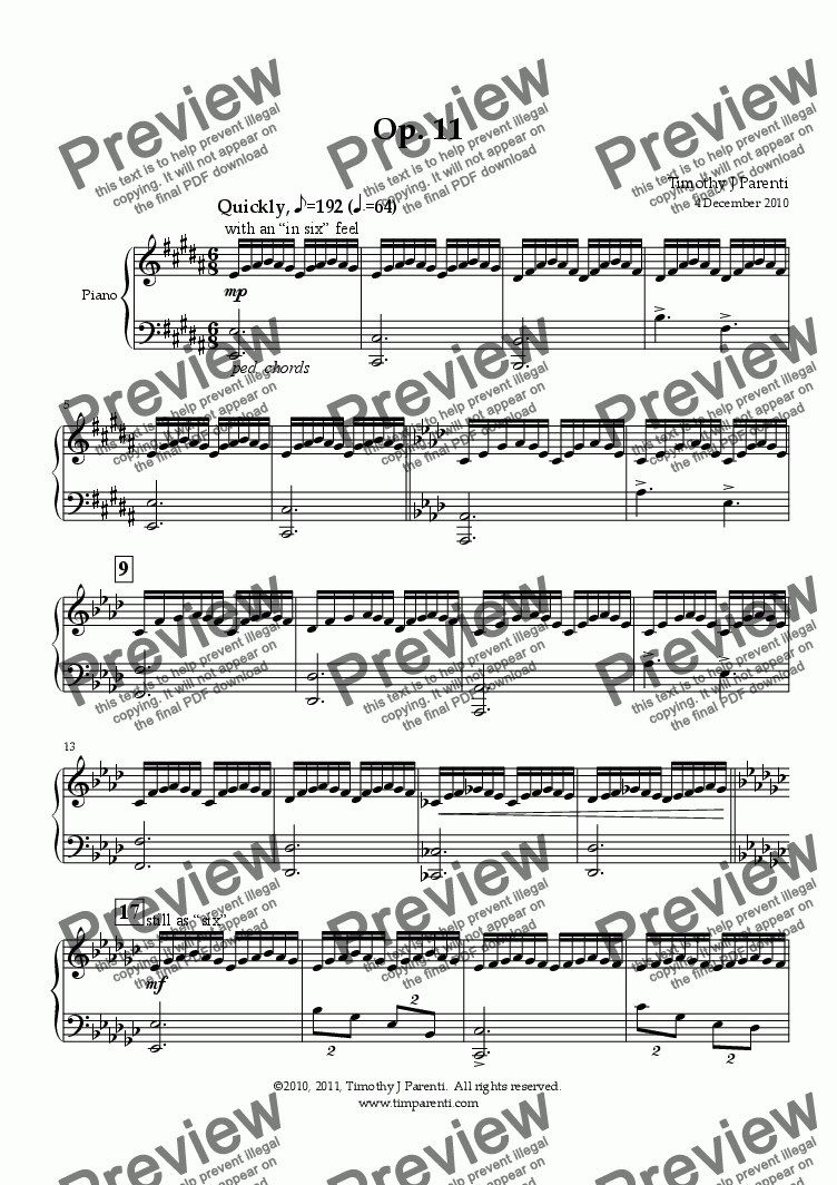 page one of Op. 11