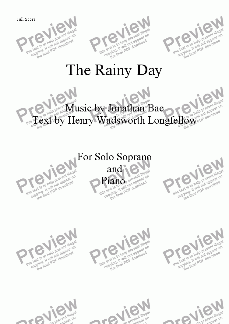 page one of The Rainy DayASALTTEXT