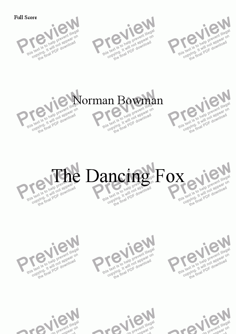 page one of The Dancing Fox