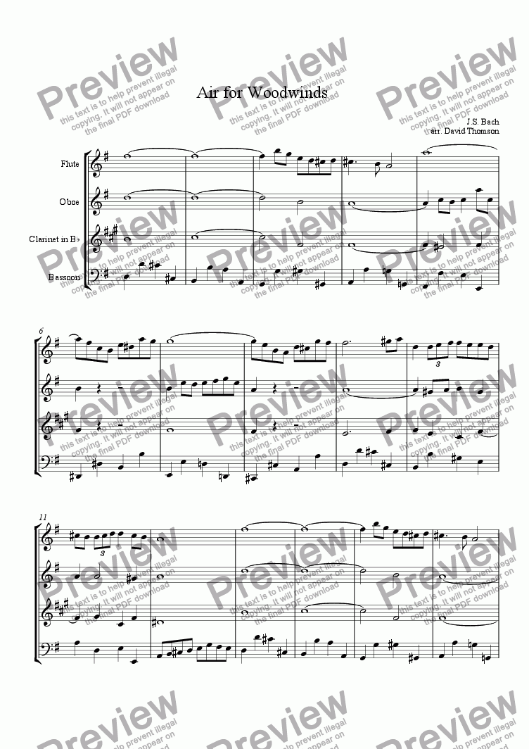 page one of Air for Woodwinds