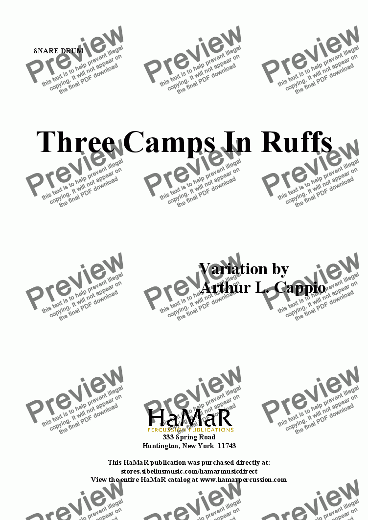 page one of Three Camps In Ruffs