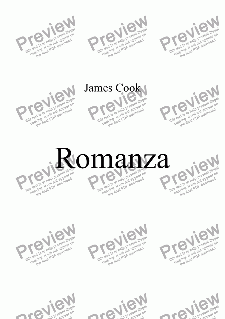 page one of Romanza