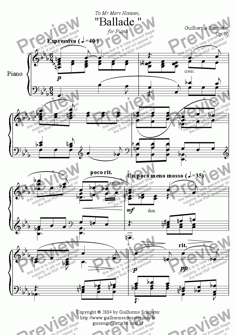 page one of Op.032 - Suite for Flute and Piano No.2