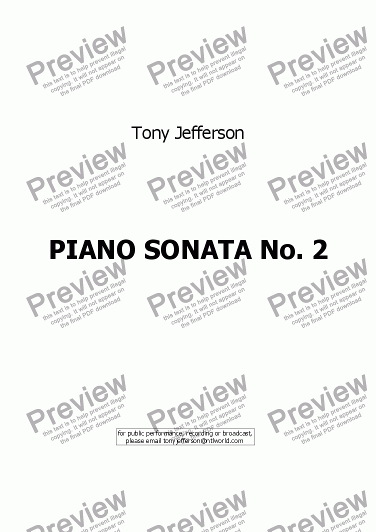 page one of Piano Sonata No 2 - first movementASALTTEXT