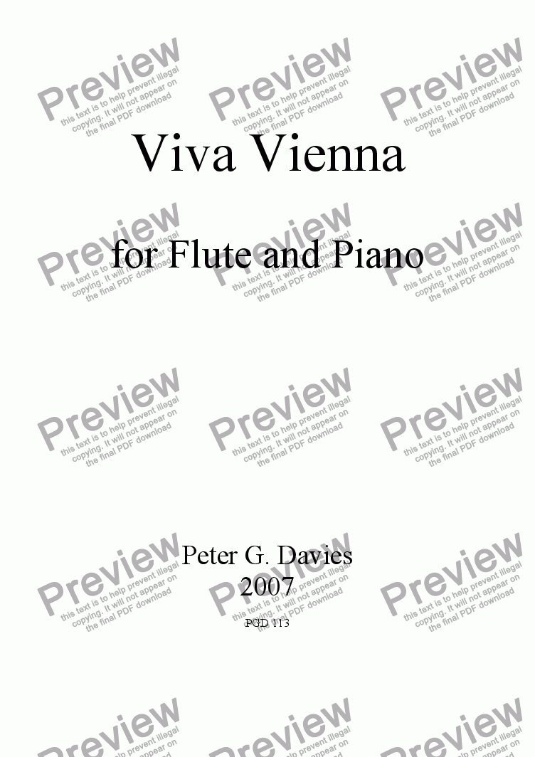 page one of Viva Vienna for Flute and PianoASALTTEXT