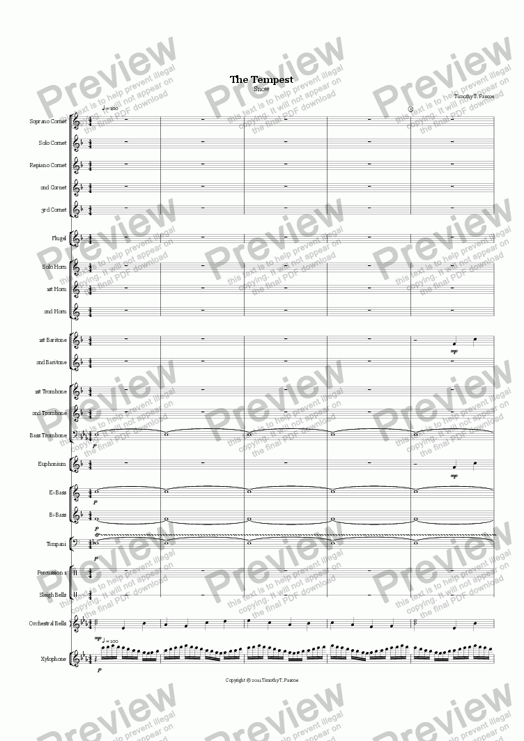 page one of The Tempest (Snow) - Brass Band