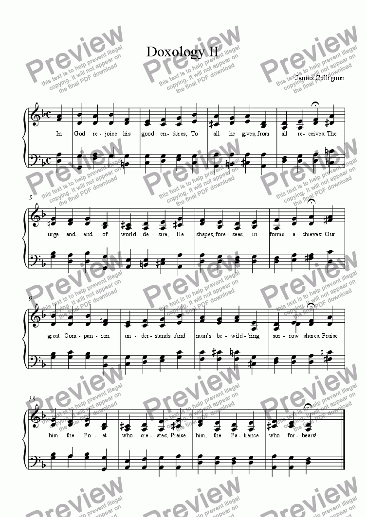 page one of Doxology II