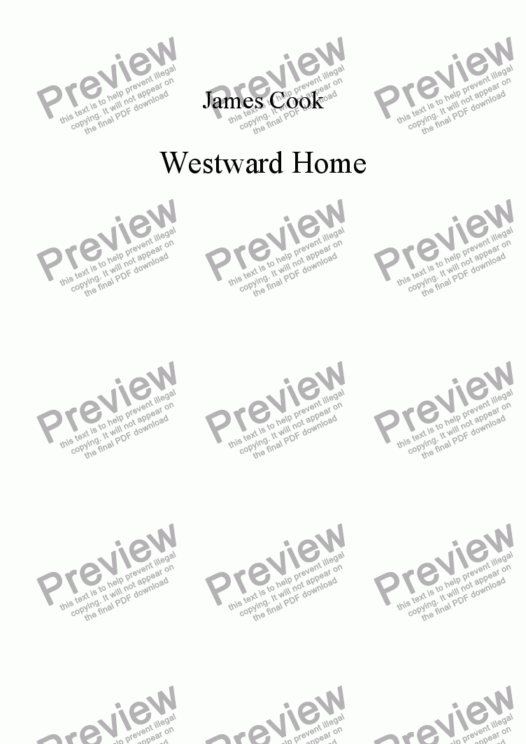 page one of Westward Home