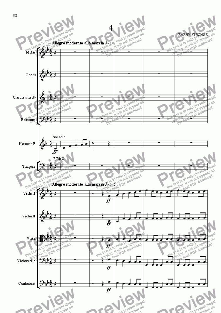 page one of A Summer Symphony - Movt 4