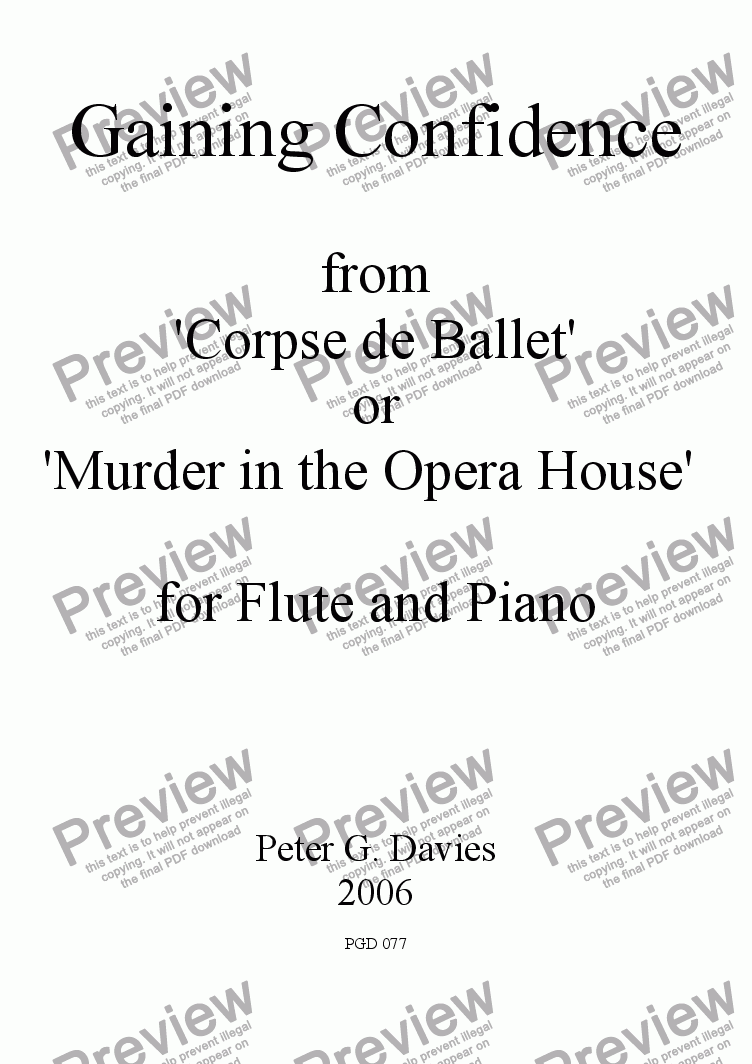page one of Gaining Confidence for Flute and PianoASALTTEXT