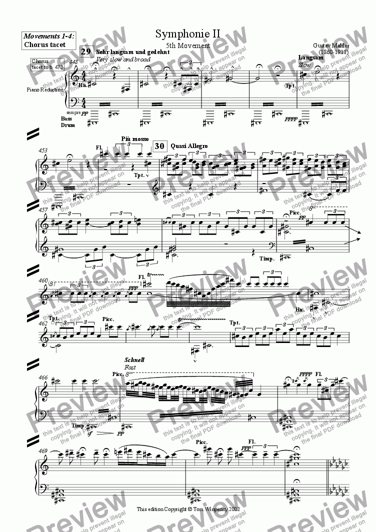 page one of Symphony 2 - Chorus PartASALTTEXT